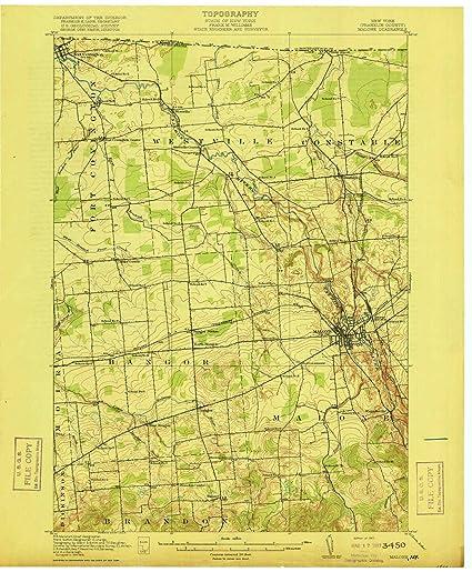 Amazon.com : YellowMaps Malone NY topo map, 1:62500 Scale ...