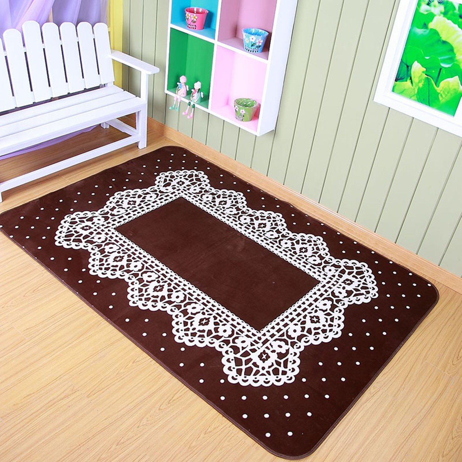 Farley Velvet Carpets Bedroom Rugs 130x185cm Area Rug Children Play Game Floor Mat Easy To Clean, Decorate Your Room, Beautify Home. by Floor Games