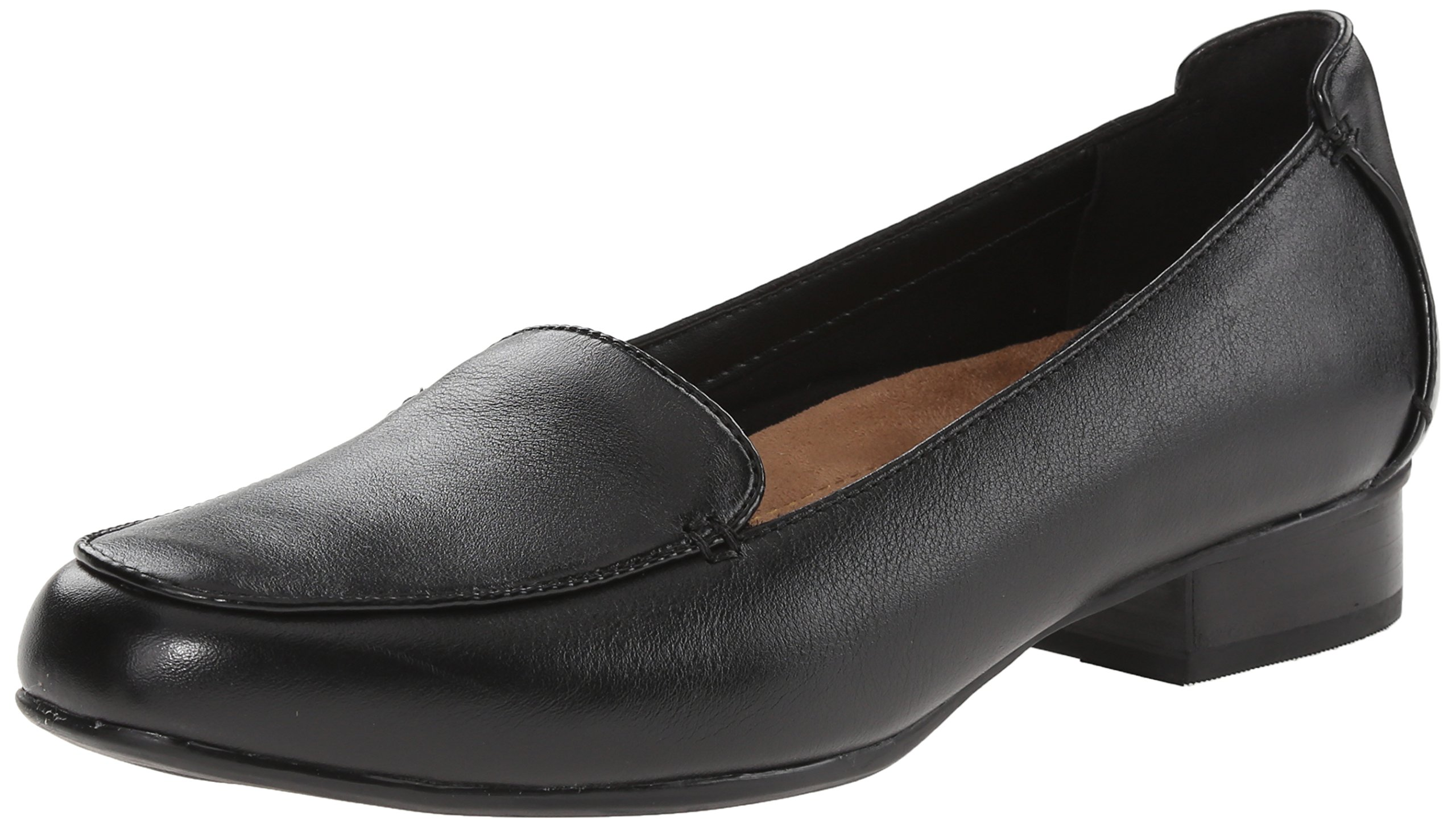 CLARKS Women's Keesha Luca Shoe, Black Leather, 8.5 M US