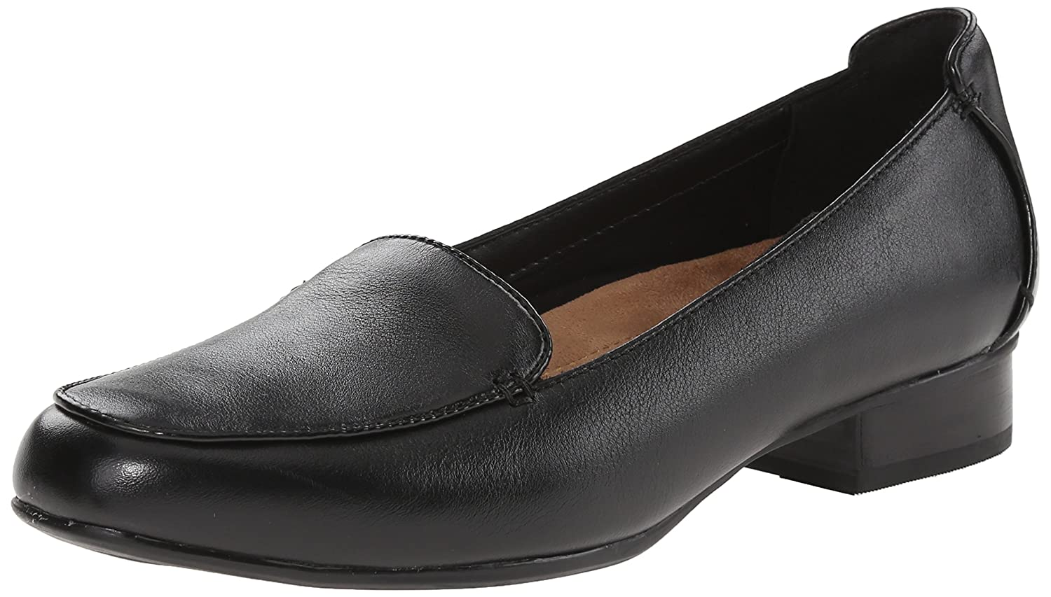 CLARKS Women's Keesha Luca Slip-On Loafer B00T3IMT9U 8.5 N US|Black Leather