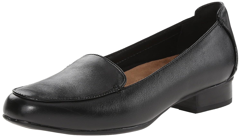 CLARKS Women's Keesha Luca Slip-On Loafer B00T3IMZN0 11 N US|Black Leather