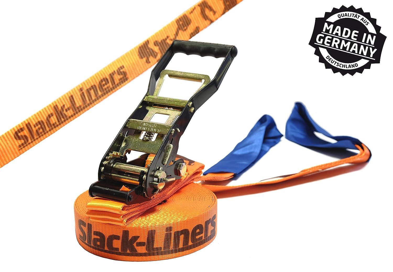 Slack-liners - Cinta para slackline (ancho: 50 mm, largo: 25 m, con hebilla) Cargo Drechsler Ltd. Slackline Classic 50mm 25M