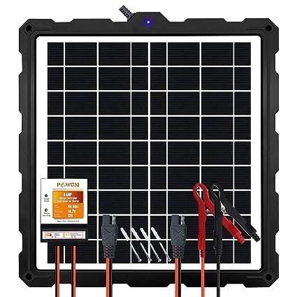 Amazon.com: POWOXI - Cargador de batería solar actualizado ...