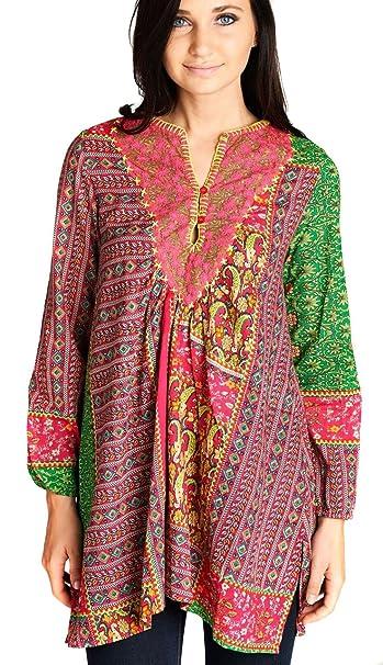 VELEZRA Womens Plus Bohemian Tassel Boho Pheasant Long Sleeve Dress 1X 2X 3X