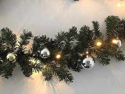 LED Tannen Girlande Weihnachtsgirlande mit Beleuchtung für innen aussen 10 Meter