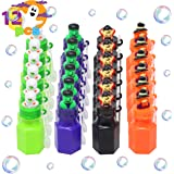 12 Pcs Halloween Character Themed Bubbles in 4 Spooky Designs for Trick-or-Treating, Halloween Party Favors