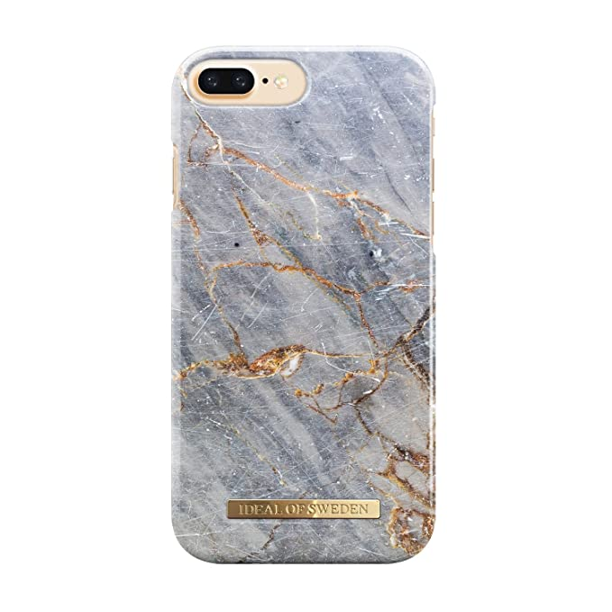 innovative design 26c12 dbee8 Ideal Sweden Magnetically Compatible Fashion Cellphone Case iPhone 7 Plus  in Beautiful Grey Marble Design (Royal Grey Marble)