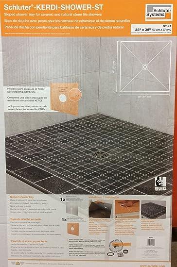 Schluter KERDI SHOWER ST Shower Tray 38u0026quot; ...