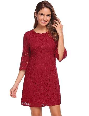 etuoji Black lace Dress Plus Size lace Dress Women Sexy lace Shift ... c71f1b6c6f