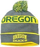 NCAA Oregon Ducks Pom Pom Charcoal Knit Hat, One Size, Green