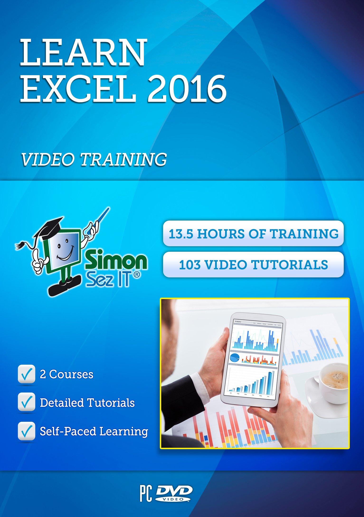 Simon Sez IT Learn Microsoft Excel 2016 Training Course - Beginner and Intermediate Level by Simon Sez IT