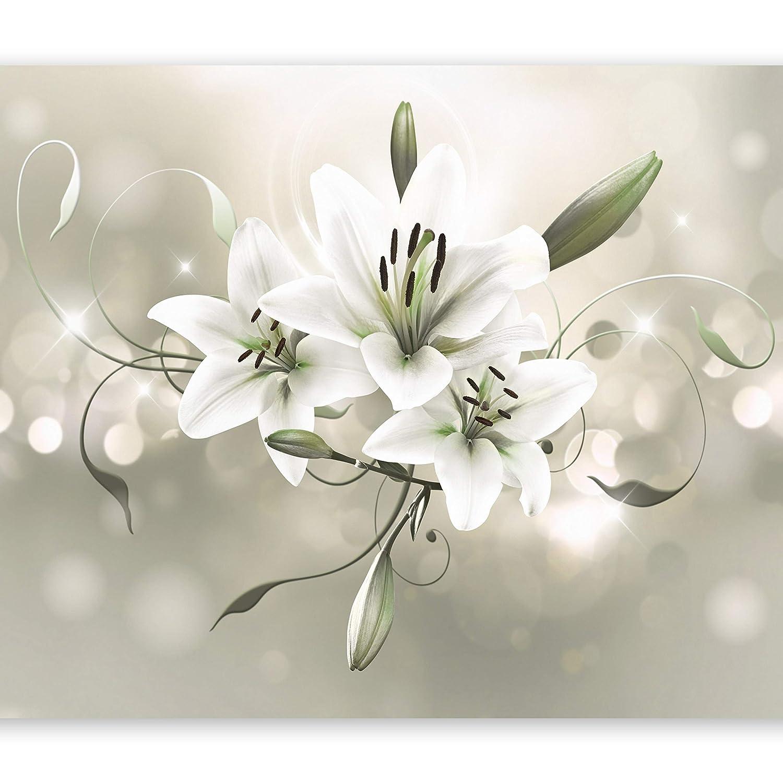 Murando - Fototapete 400x280 cm - Vlies Tapete - Moderne Wanddeko - Design Tapete - Wandtapete - Wand Dekoration - Blumen Lilien b-C-0040-a-d