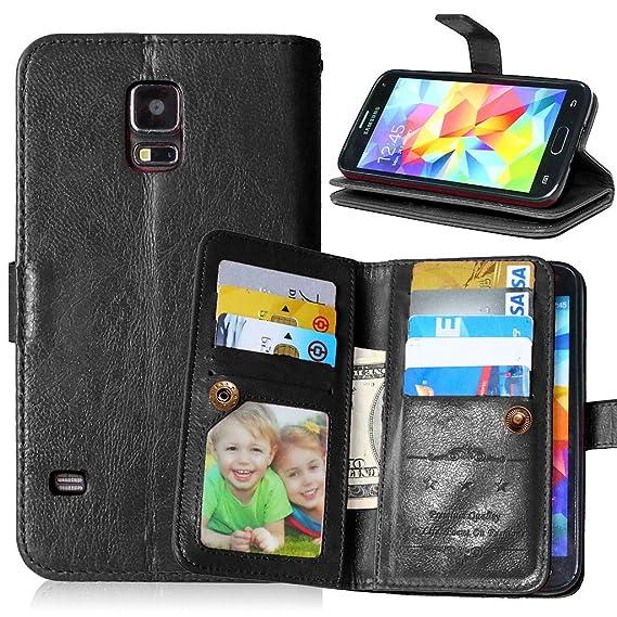 premium selection ba0bd 320e8 Amazon.com: Samsung S5 Case, Galaxy S5 Case, Mellonlu PU Leather [9 ...