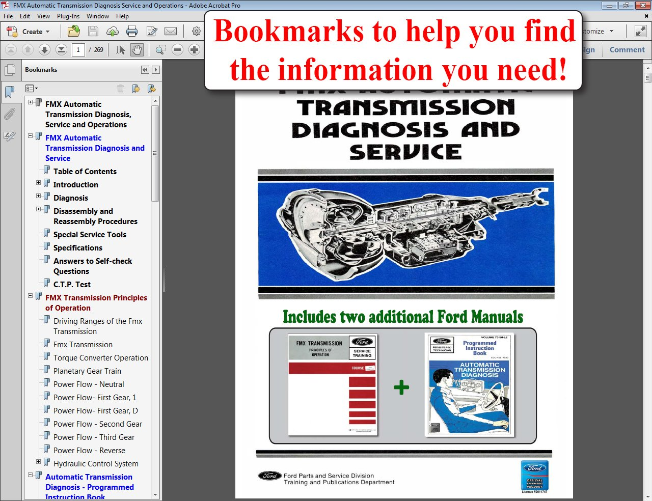 Fmx Automatic Transmission Diagnosis Service And Training Manual Wiring Diagram Ford Motor Company 9781603711999 Books