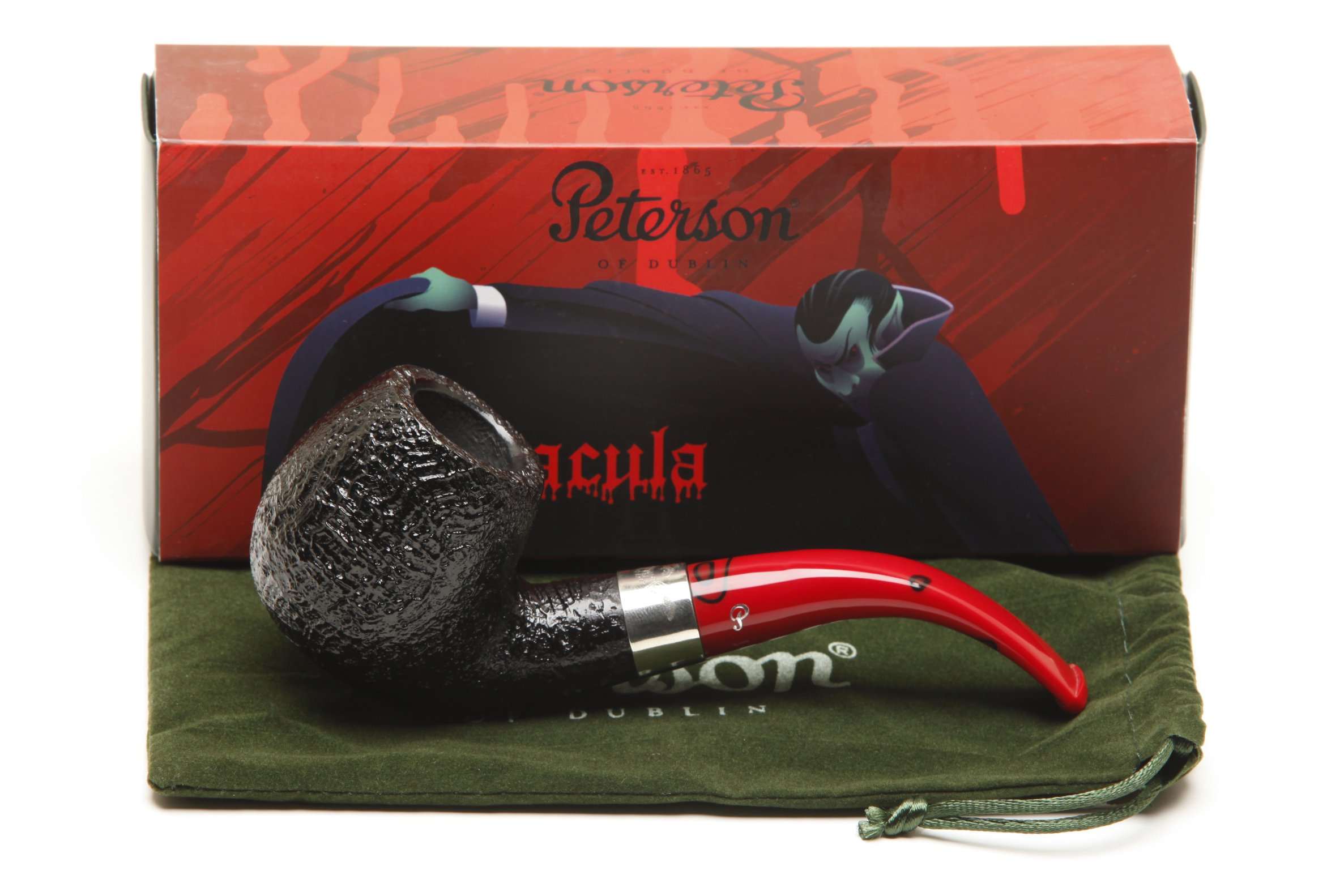 Peterson Dracula 68 Sandblast Fishtail Tobacco Pipe