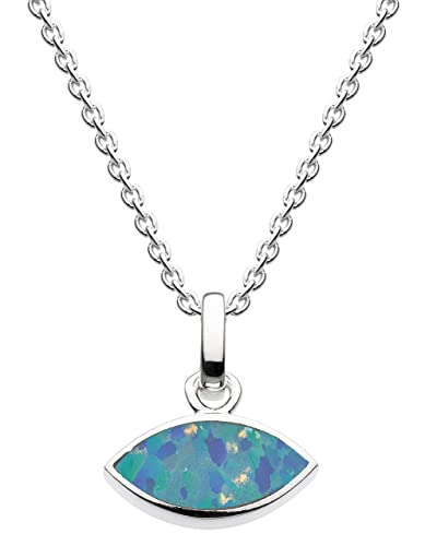 Dew Sterling Silver Marquise Necklace JXpsuY5kL