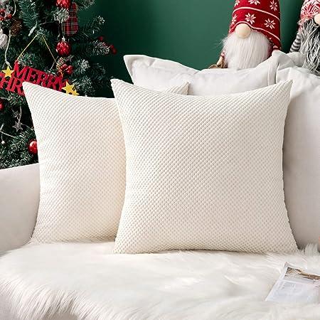 MIULEE Navidad 2 Piezas Fundas de Cojines Diseño Granulado