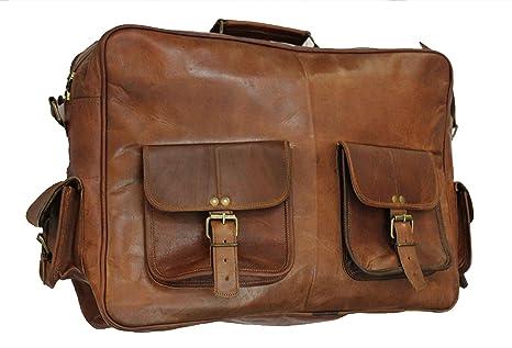 classydesigns 40,6cm Bureau Sac en cuir véritable fait à la main style vintage/sac messenger/cartable/sacoche