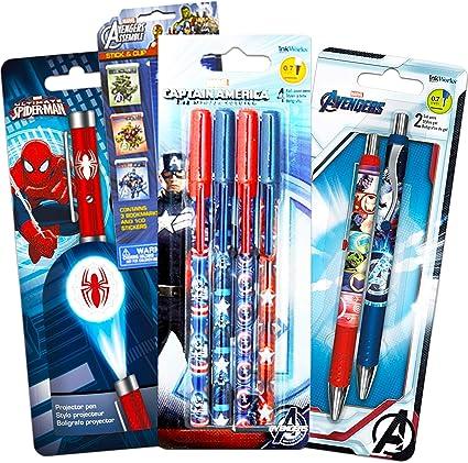 Marvel Avengers Juego de bolígrafos de gel de lujo, bolígrafo ...