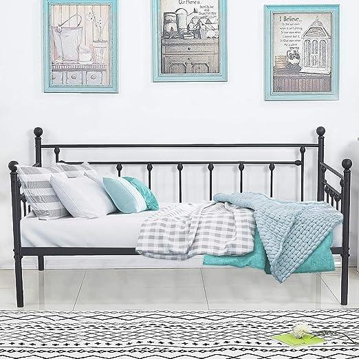 Amazon.com: VECELO - Sofá cama con cama nido y cama nido ...