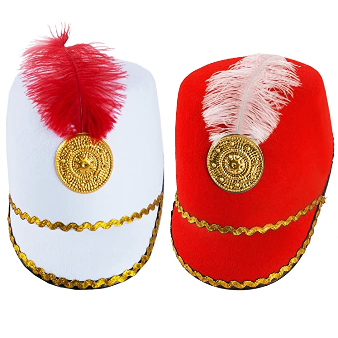 04d13b9e9f1b4 Amazon.com  Tigerdoe Marching Band Hat - 2 Pack - Nutcracker Hat - Soldier  Hat - Drum Major Hat - Toy Soldier Hat  Clothing