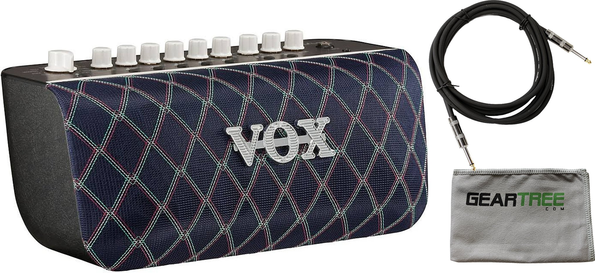 Vox Adio Air BS 50W 2x3 Bluetooth Modeling Bass Combo Amplifier w/ Cable and Geartree Cloth