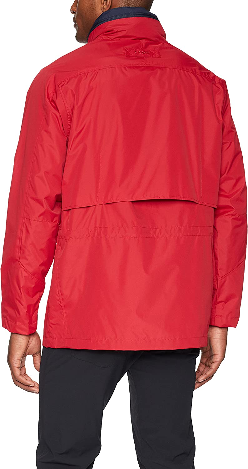 IZOD Mens Rain and Wind Resistant Preformance Jacket with Hidden Hood