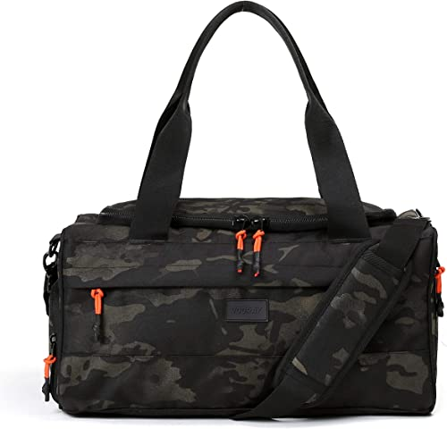Vooray Boost XL Duffel, Large Waterproof Gym Bag with Shoe Compartment, Accessory Pockets, Premium Overnight Weekender Travel Bag, Durable Sports Duffel Men Women 32L
