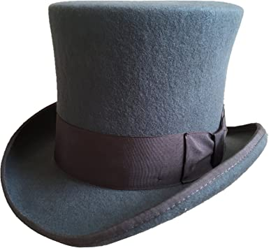 GEMVIE Top Hat 100/% Wool Satin Lined Men/'s Topper Costume Party Hats Dress up Hats for Adults