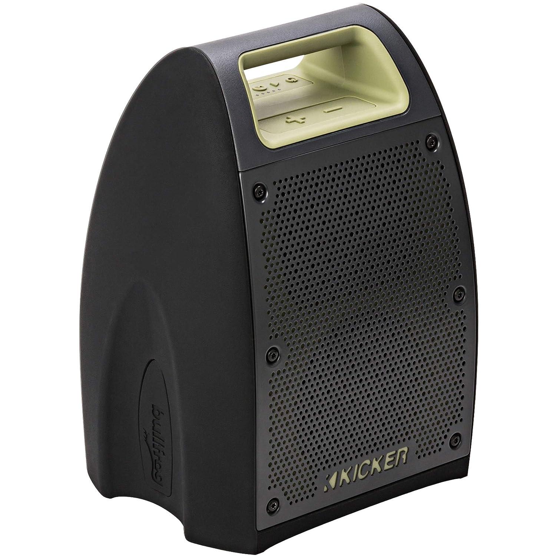"Kicker Bullfrog BF400 Bluetooth Portable Outdoor Speaker   360° Sound Waterproof Dustproof Powerful 20 Watt AMP 3"" Full Range Speakers (2)   3""x4"" Passive Bass Radiator   100 FT Wireless Range"