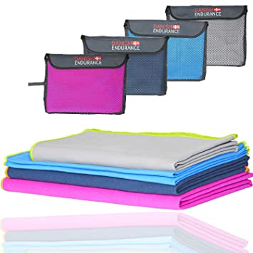 Amazon.com : Microfiber Travel & Sports Towel, Ultra Compact, Lightweight, Absorbent and Fast Drying Towels, Ideal for Gym, Beach, Travel, Camping, ...
