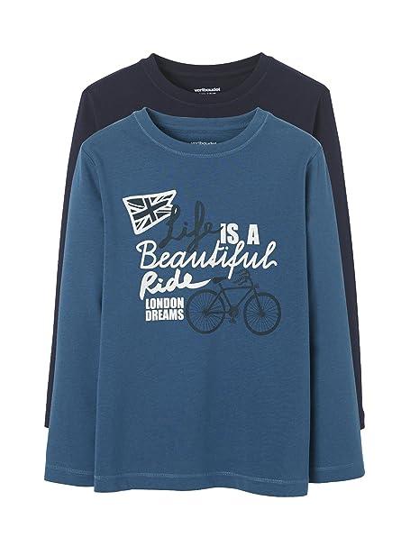 VERTBAUDET Lote de 2 Camisetas Estampadas para niño: Amazon.es: Ropa y accesorios