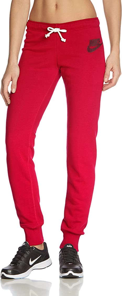 Nike Damen Jogginghose Rally Tight Pants, Rot, XL:
