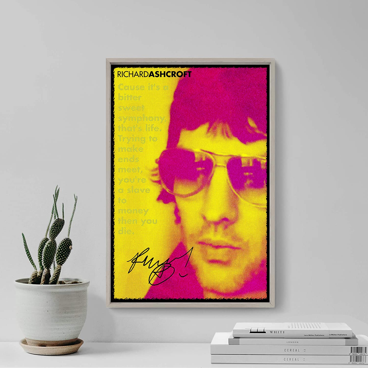 Rara Stampa Artistica Idea Regalo 45 x 30 cm Cartellone The Pop Culture King Richard Ashcroft: Poster Fotografico con Replica di Autografo