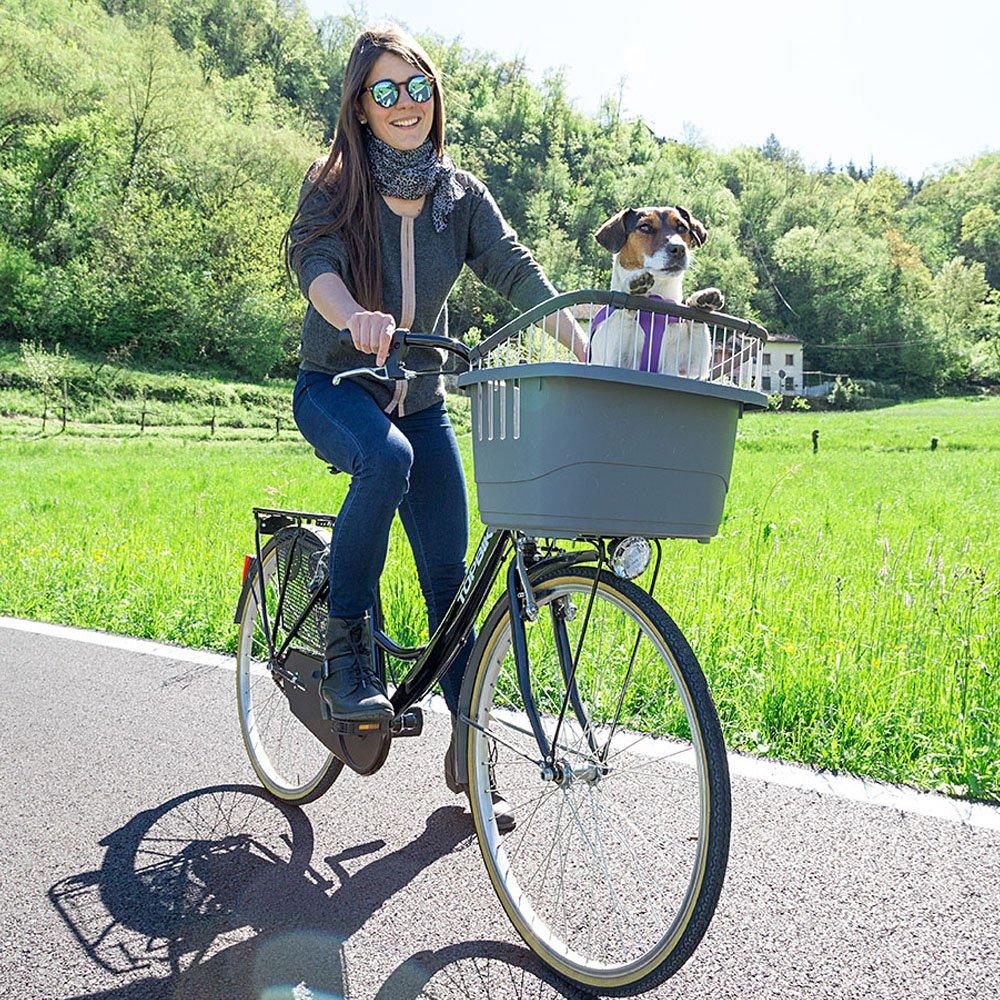 panier de Transport v/élo pour Chiens colori gris Ferplast Atlas bike 20 rapid