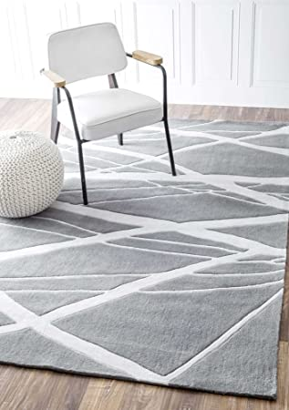 Amazon Com Contemporary Area Rugs Grey Soft Carpet Striped Adstract
