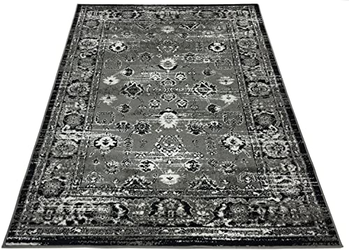 Designer Collection Vintage Mahal Design Traditional Oriental Area Rug Rugs 2 Different Color Options Grey, 20 x31