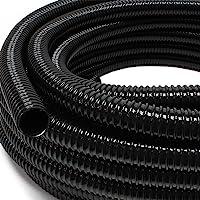 """Wiltec 25m Förderschlauch 25mm (1"""") sehr flexibel - schwarz - Made in Europe"""