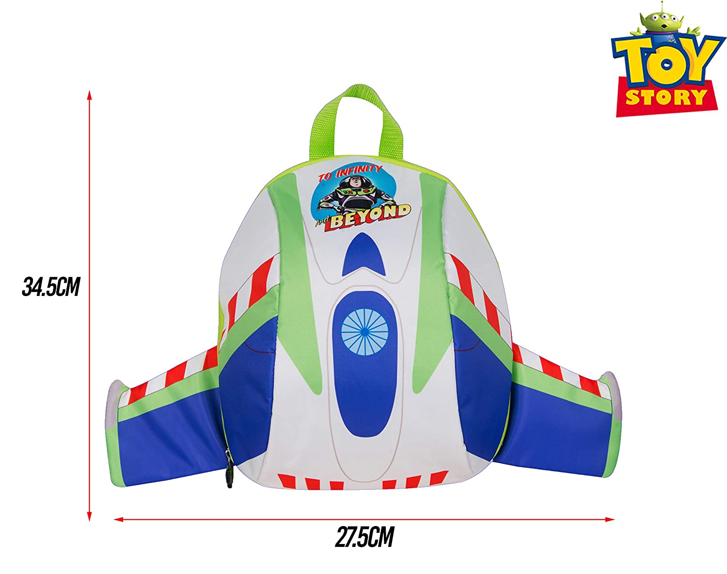 Toy Story Buzz Lightyear Dome Padded Backpack With Wings Disney