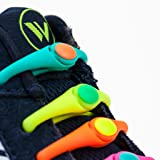 HICKIES Kids Elastic No Tie Shoelaces - Rainbow Colors (Pack Of 10 Laces, Works In All Sneakers)