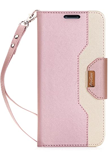 size 40 4ca58 5c9fb ProCase Wallet Case for Galaxy Note 8, Folio Flip Case with Card Holder,  Folding Stand Protective Cover for Galaxy Note8 2017 –Pink