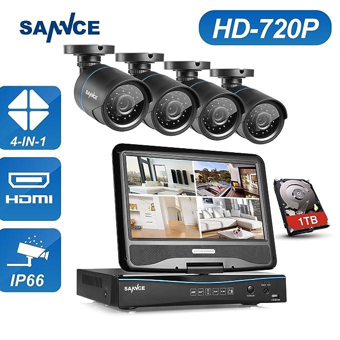 1 opinioni per Sannce 8 Canali di 10.1 LCD DVR Kit di Videosorveglianza completo a 4 Canali,