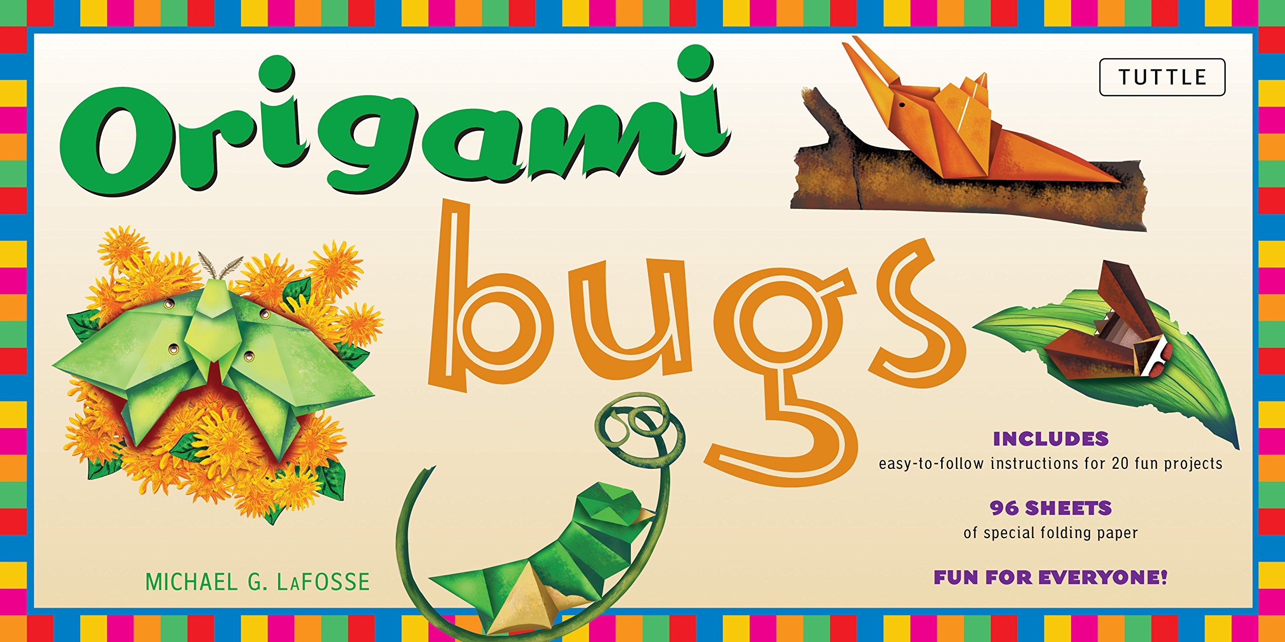 Download Origami Bugs Kit: Kit with 2 Origami Books, 20 Fun Projects and 98 Origami Papers: This Origami for Beginners Kit is Great for Both Kids and Adults PDF