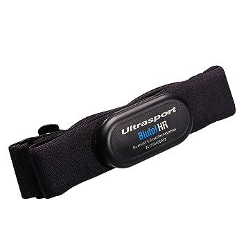 Ultrasport Correa textil de pecho Bluetooth 4.0, lavable / correa para el pecho con Bluetooth para iPhone a partir de 4s y smartphones Android a ...