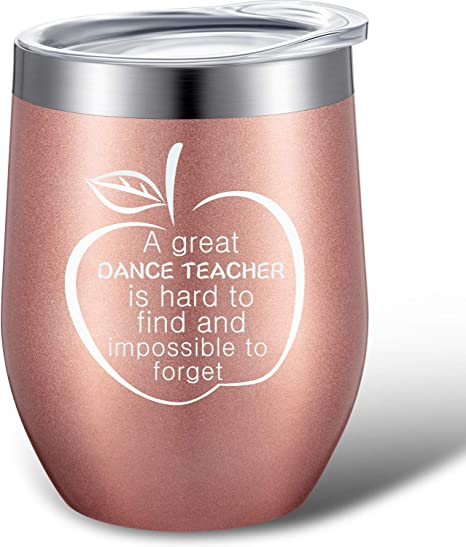 Funny Dance Teacher Gift Dance School Instructor Tumbler Mug Black 20oz Stainl