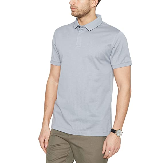 baa7e4e9 Debenhams J by Jasper Conran Men Grey Textured Polo Shirt: J by Jasper  Conran: Amazon.co.uk: Clothing