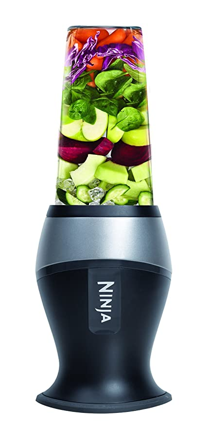 Ninja Personal Blender for Shakes, Smoothies, Food Prep, and Frozen Blending with 700-Watt Base and (2) 16-Ounce Cups with Spout Lids (QB3000SS) ...