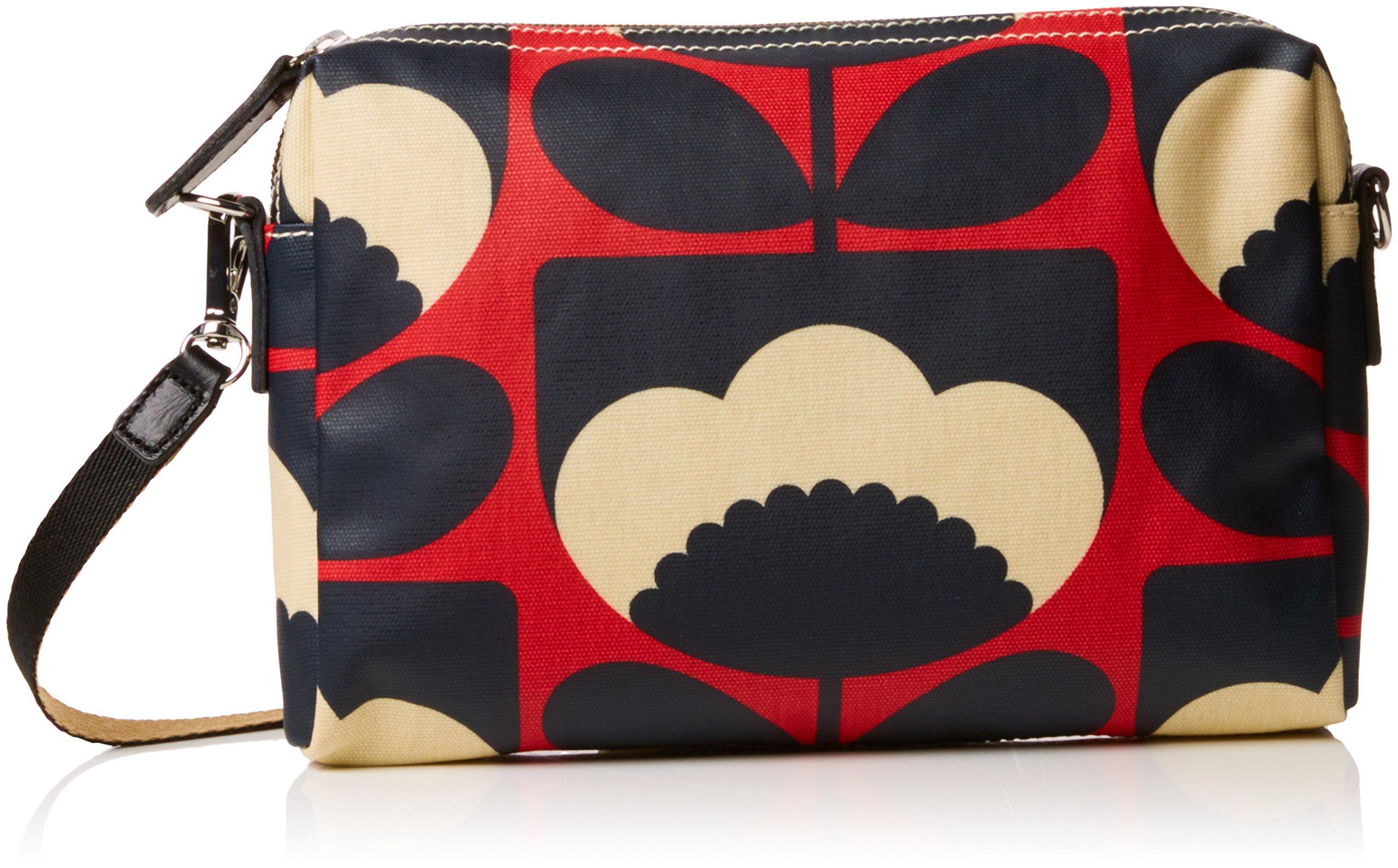 Orla Kiely Spring Bloom Small Cross Body Bag, Poppy