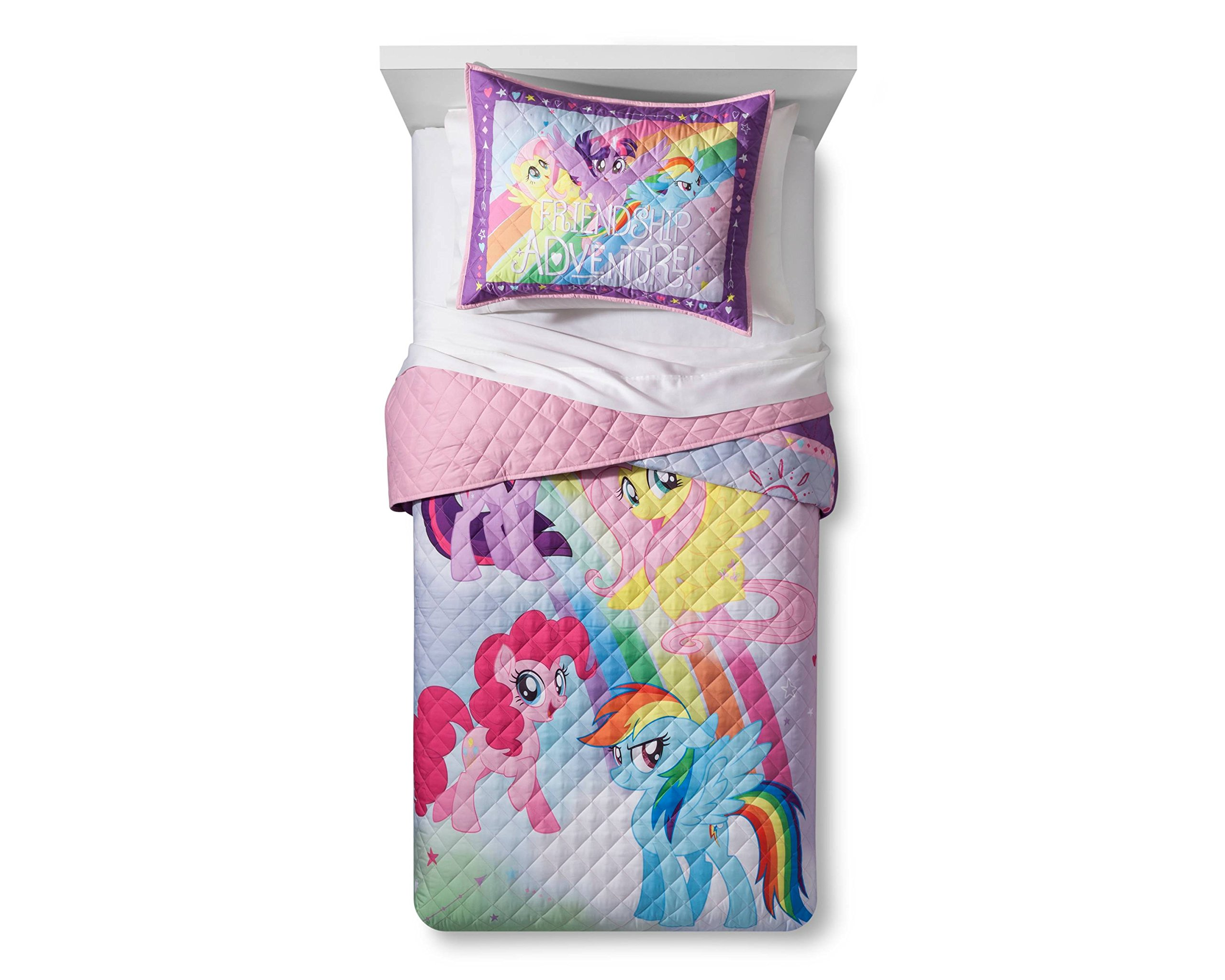 Hasbro My Little Pony The Movie Twin/Full Quilt and Sham