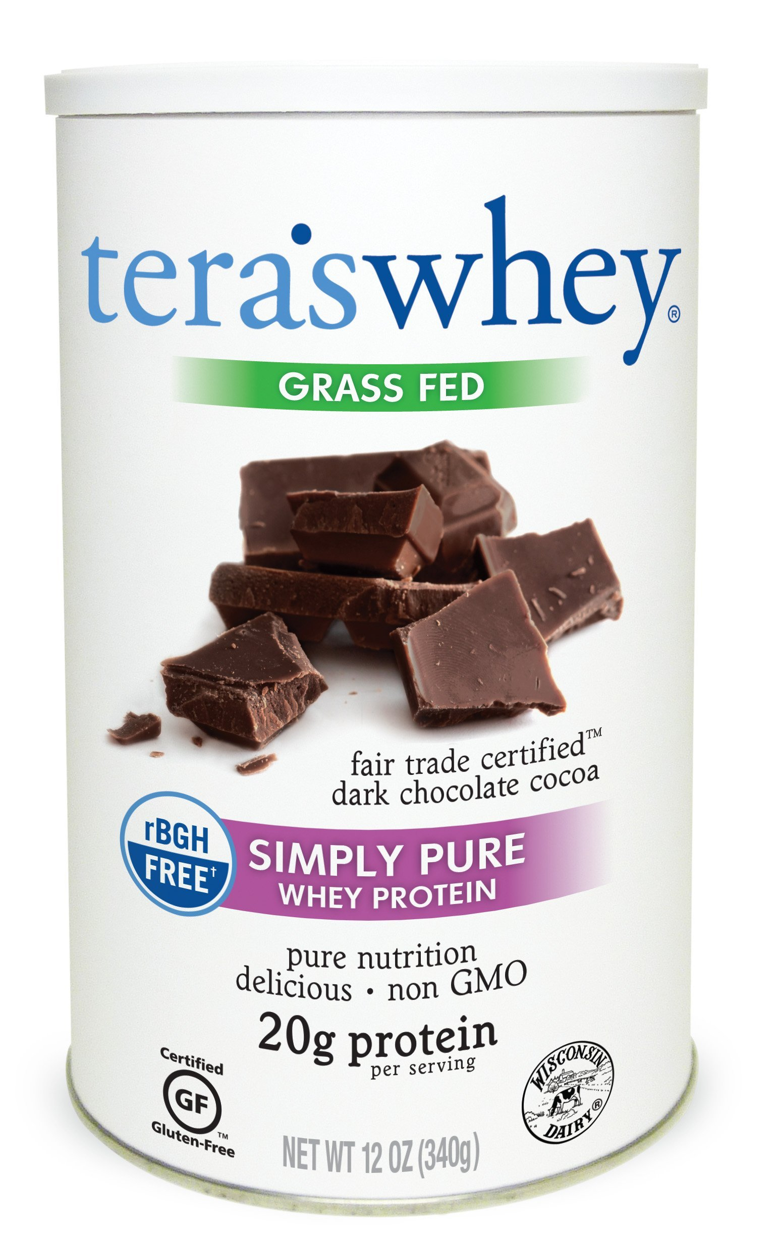 Tera's Whey Protein, Dark Chocolate, 12 oz by teraswhey